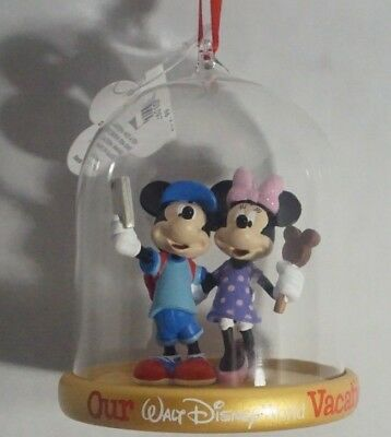 Disney Parks Mickey Mouse Minnie Mouse Christmas Ornament 2018 Our Vacation