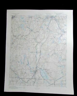 Webster Massachusetts Connecticut Rhode Island vintage 1887 old USGS Topo chart