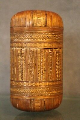 Box case for decor marquetry straw 19e