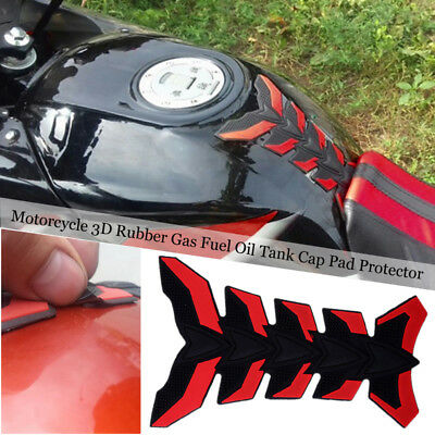Universal Motorcycle 3D Rubber Gas Fuel Oil Tank Cap Pad Protector Sticker Decal