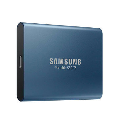 Samsung Portable SSD T5 250GB External Storage 540MB/s Speed Fast Light Compact