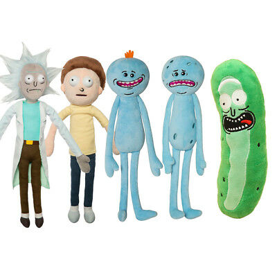 Rick and Morty Pickle Rick Happy & Sad Meeseeks Stuffed Doll Plush Toy for Kids