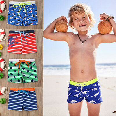 2018 new Kids Boy summer Swimwear swimming Shorts Bottom Pants Cartoon beachwear