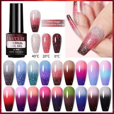 LILYCUTE Temperature Nail Gel Polish Color Changing UV Soak Off Manicure Varnish