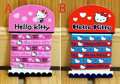 NEW Sanrio Hello Kitty Thick Hair Rubber Bands - 10pcs Set (Wide)