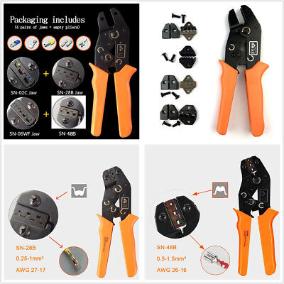 Car Wire Cutting Terminal Crimper Plier Tool SN-28B SN-02C SN-06WF Jaws Tool Kit