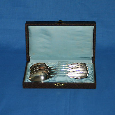 Antique German 800 Silver Gebruder Koberlin Spoons - Lot of 5 Spoons in Box