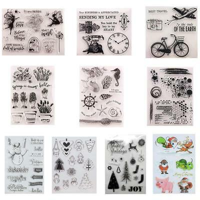 DIY Transparent Silicone Clear Stamp Cling Seal Scrapbook Embossing Album