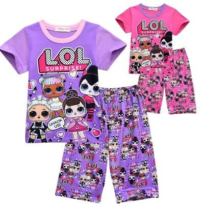 Girls/Kids LOL SURPRISE 2Pcs Set DOLL Pyjamas Pajamas Sleepwear Loungewear Gifts