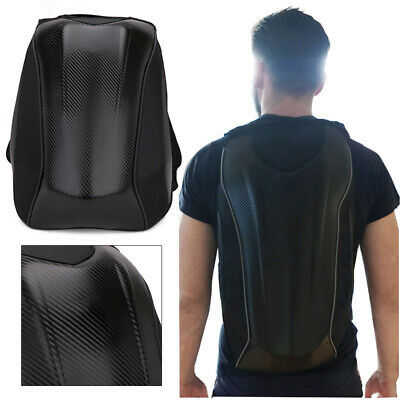 Black New Large Waterproof Carbon fiber Motorcycle Bike Backpack Storage Bag