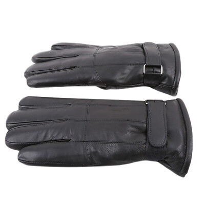 Black Outdoor Men Women Leather Gloves Motorcycle Skiing Walking Cycling B