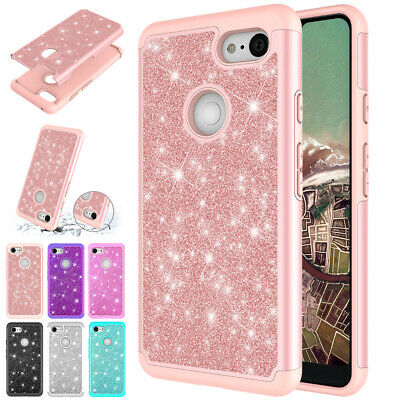 For Google Pixel 3a Case Pixel 3 XL 3a XL Shockproof Bling Hybrid Rubber Cover