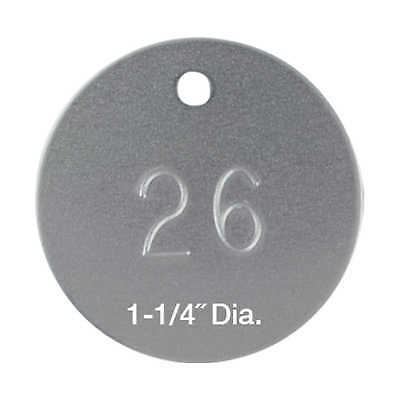 Round Aluminum Tags Numbered 11001 - 12000