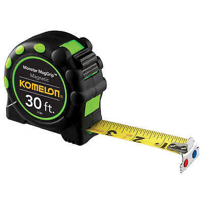 Komelon Monster MagGrip 30'L Tape Measure Printed one side ft. in. and 16ths