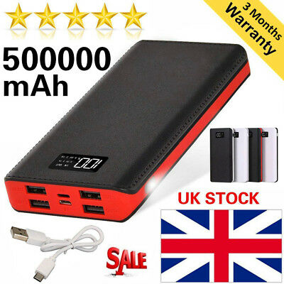 Fast Charging 2.4A Portable Power Bank 500000mAh 4 USB External Battery Charger