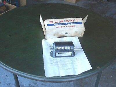 """1 DURANT """"PRODUCTIMETER"""" VINTAGE INDUSTRIAL COUNTER New Old Stock"""