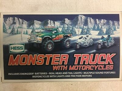 2007 Hess Monster Truck and Motorcycles  - With The Original Box