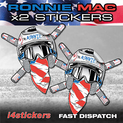 Ronnie Mac x2 Graphics Decals Pair of Stickers HIGH QUALITY FAST DELIVERY