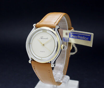 New Old Stock 1980s 30mm THERMIDOR Dress vintage quartz watch NOS