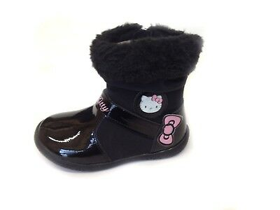 New Girls Children Infants Warm Winter Ankle Boots Snow Boot Shoes Size UK