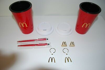 "Mcdonald's ""I'm Lovin' It"" Lapel Pin, Insulated Tumbler, Pen, Key Fob Bundle"