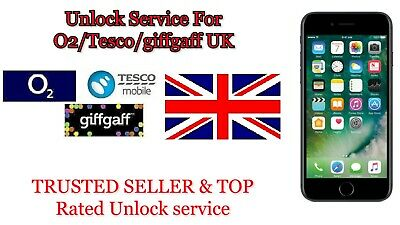 Unlock Service For O2 TESCO GIGAFF UK CODE FOR iPhone 3 4 4S 5 5S 5C SE 6 6S 7 8