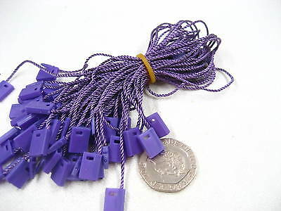 purple Tag hang tag String Lock Fastener Labeling Tagging Supplies square end