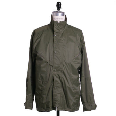 Barbour Jacket Size XL Ultra Light Polo Solid Green Breathable