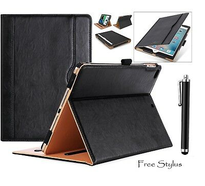 """Genuine Pure Leather Case Smart Stand Cover Fits iPad 5th 2017 6th Gen 9.7"""" 2018"""