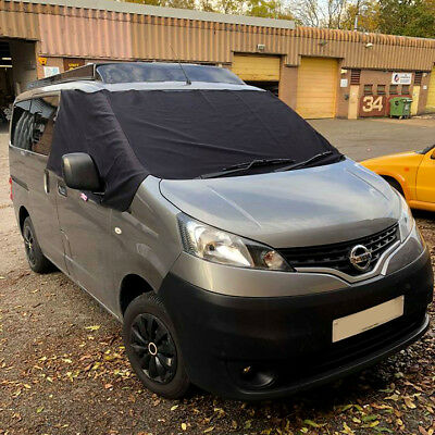 NV200 Black Out Blind Window Screen Cover Wrap Camper Van Curtain Frost