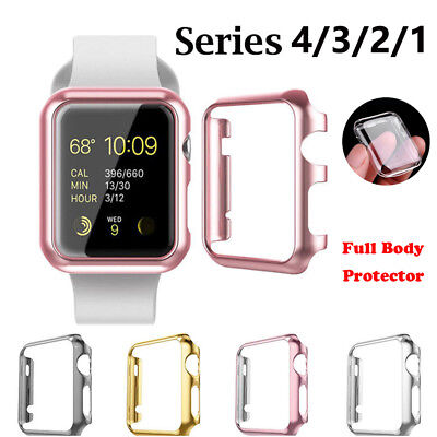 Apple Watch Series 4 3 Full Body Case Screen Protector Cover iWatch 44/40mm
