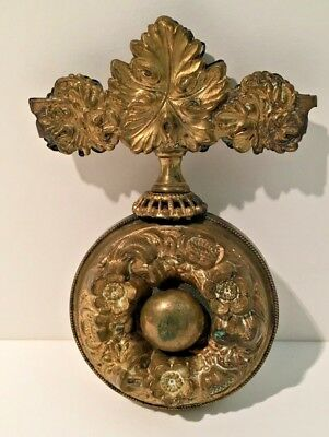 Antique French Brass or Gilt Bronze Ormolu Servants Bell Pull Ornament Finial