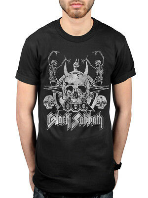 Official Black Sabbath Dancing Skeleton T-Shirt Paranoid Master Of Reality Rock