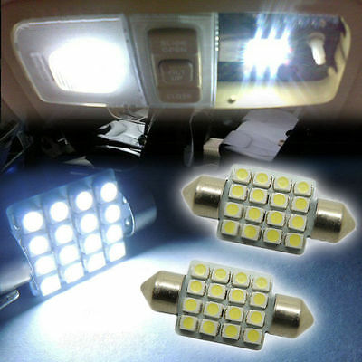 10X Festoon 31mm 16smd  C5W 3528 LED Light Car Reading Door Dome bulb DE3175