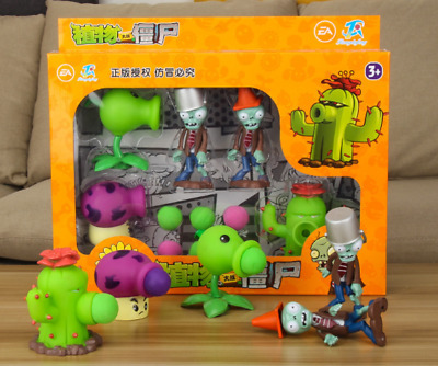 Game Plants VS Zombies Action Figure PVZ Pea Shooter & Zombie Set Kids Toy Doll