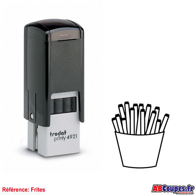 Stamp for Cards fidelity FRIES - Chip shop Snack Frying Trodat 4921
