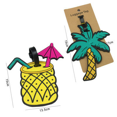 Fruits Luggage Tag Travel Suitcase Bag ID Address Label Baggage Card Holder