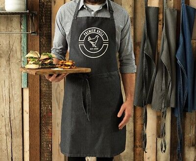 5 x Personalised Business Aprons Cafe Restaurant Bar