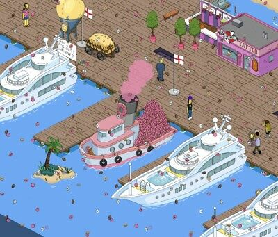 The Simpsons Tapped Out Donut Boat + 10000 Donuts !