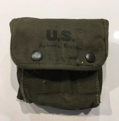 Original Named WWII US Army Jungle First Aid Kit Empty Pouch Marked 1945