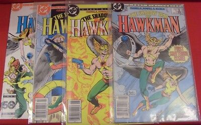 Shadow War Hawkman 1-4 Dc Mini Comic Set Complete Isabella Howell 1985 Vf/nm