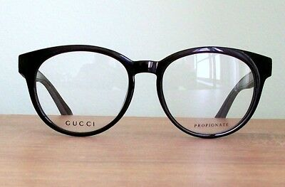 afa1acc1b5ee GUCCI Eyeglass Black   Gray Eyeglasses Frame with tags   case for man 150mm  New