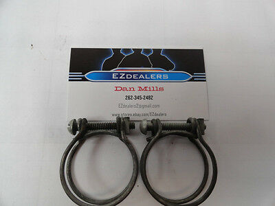 """Vintage hose Clamps 1-1/2"""", 1930'S 40'S 50'S * NOS,2 Wire Clamps * FORD * CHEVY"""
