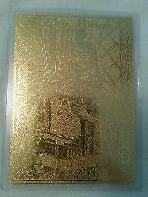 Rare 22Ct Gold Lord Of The Rings Danbury Mint Trading Card Elrond