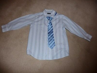 Boy's Clothes Blue Striped Shirt And Tie Age 3 Years BHS  WEDDING, PARTY, CRUISE