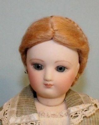 Dolls & Bears Daisy Dark Auburn Mohair Wig For Antique French/ German Bisque Doll Size 9-10