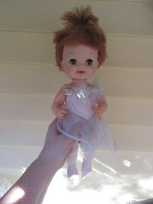 """1968 Remco Baby Girl Doll 14"""" In Ballarina Outfit"""
