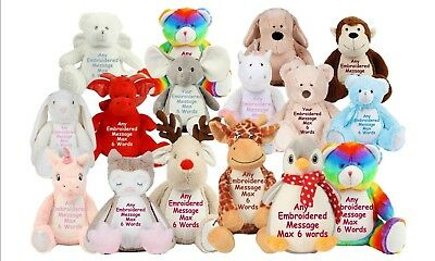 Personalised Large Teddy Bear Birthday Christening Baby Bridesmaid Pageboy Gift