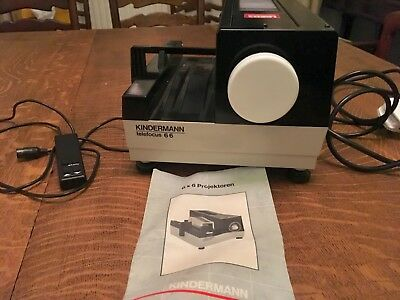 Kindermann Telefocus 66, 6cm x 6cm medium format slide projector