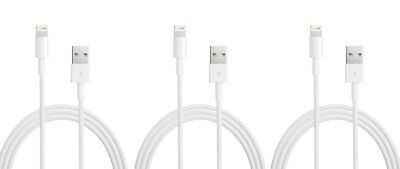 3X Genuine Apple Usb Type-A To Lightning Cable 1M 3.3 Ft Iphone Ipad Airpod Ipod